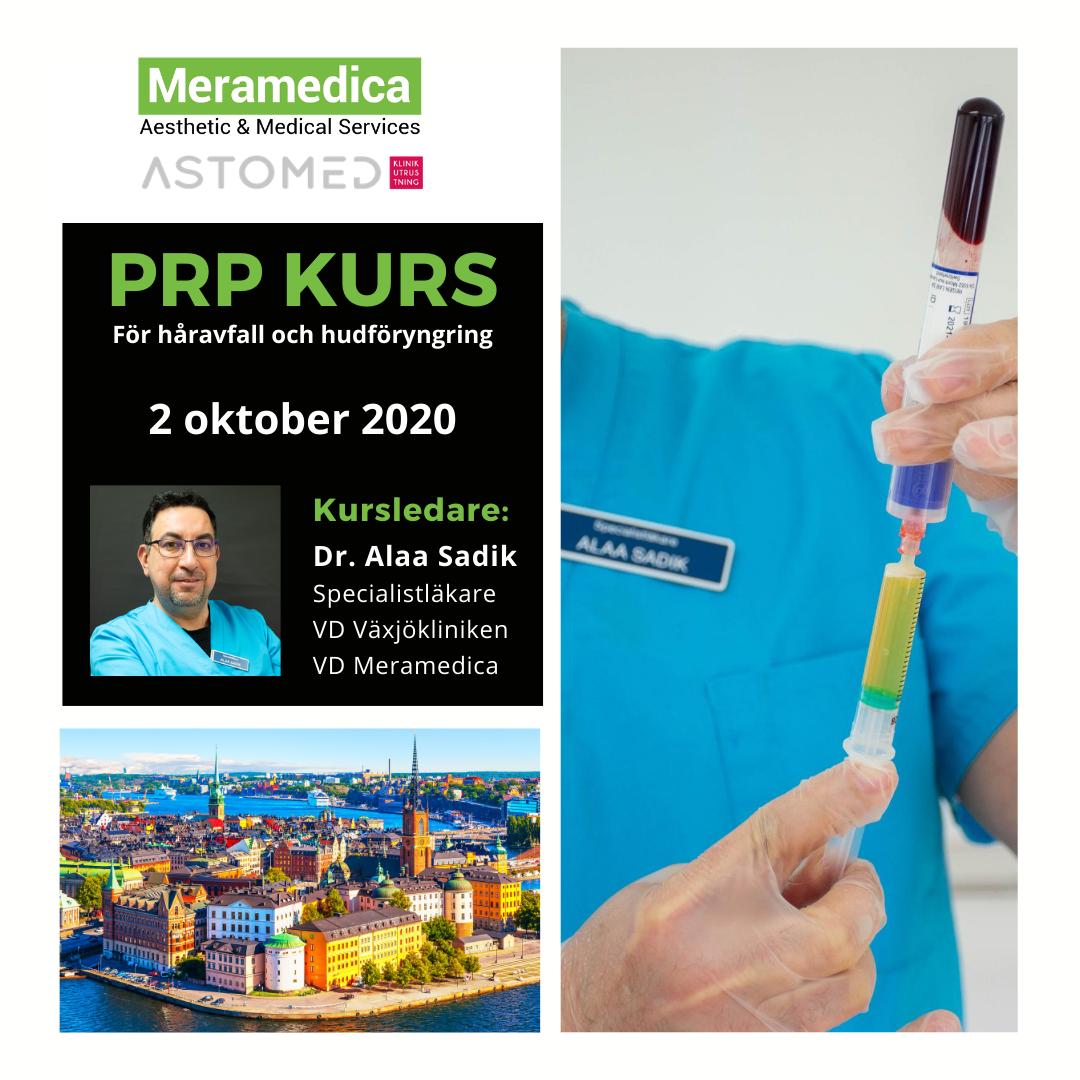 PRP (Platelet Rich Plasma) Behandlingskurs – Meramedica Academy I Stockholm