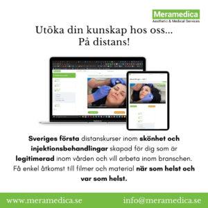 Sveriges första distanskurser inom skönhet och injektionsbehandlingar